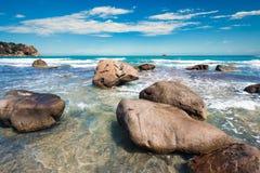 Stone at the beach Stock Photo