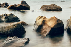 Stone at the beach Royalty Free Stock Photography