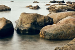 Stone at the beach Royalty Free Stock Photo