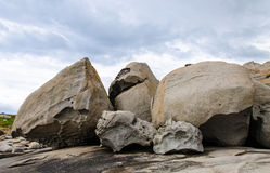 Stone on the beach. In Corsica Royalty Free Stock Image