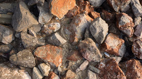 Stone on Beach. Stone on the Beach at HuaHin Thailand Stock Photo