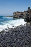 Stone beach on Lanzarote Royalty Free Stock Photo