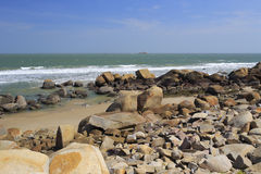 Stone beach of liuao town Stock Image