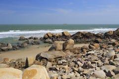 Stone beach of liuao town Stock Image