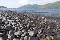 Stone beach Stock Photography