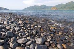 Stone beach. The stone beach in national park, Thailand Stock Photography