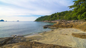 Stone and beach at Perhentian Island, Malaysia Stock Image