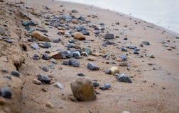 Stone beach. Sea day summer Royalty Free Stock Photo