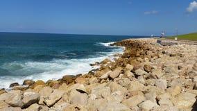 Stone beach.  Royalty Free Stock Photos