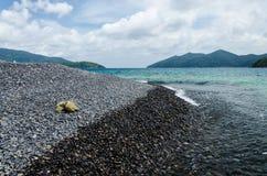Stone beach Stock Photography