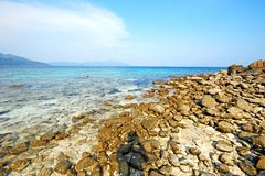 Stone beach Thailand Stock Photos