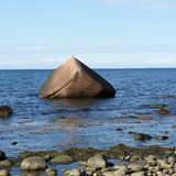 ArtSalvioli. Stone Beach whater montain natur Stock Images