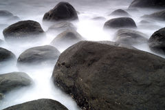 Stone at beach yilan county Stock Images