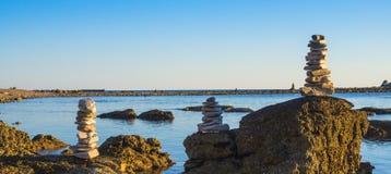 Stone Beach in Zabratija, Umag Stock Image