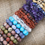Stone and bead bracelets Royalty Free Stock Photo