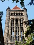 Stone Bell Tower. Majestic campus bell tower Royalty Free Stock Photography