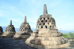 Stone bells on Borobudur Stock Photography