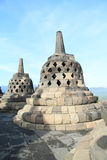 Stone bells on Borobudur Royalty Free Stock Photos