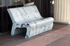 Stone bench. Near to a window royalty free stock images