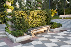 Stone bench Royalty Free Stock Image