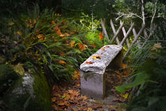 Stone Bench Royalty Free Stock Images