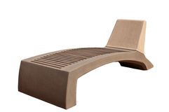 Stone bench-chaise Stock Photo
