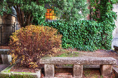 Stone bench. Stock Photography