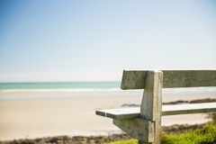 Stone bench near the sea Stock Photo
