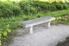 Stone Bench Royalty Free Stock Photography