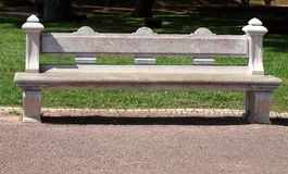 Stone bench in park Stock Photography