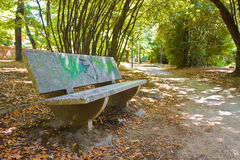 Stone bench in the park Italy Stock Photography