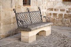 Stone Bench in Ubeda Stock Photos