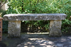 Stone Bench. This was taken in San Antonio Texas. I love stone work. Limestone a get stone to work with. Plus it makes great pavers due t not getting hot in the Stock Images