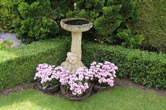 Stone Bird Bath. royalty free stock photo