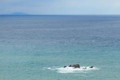 Stone on the black sea. In Crimea Stock Photo