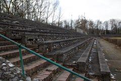 The stone bleachers at the stadium. Korona Krakow Poland royalty free stock image