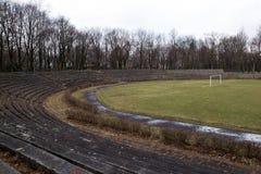 The stone bleachers at the stadium. Korona Krakow Poland stock photos