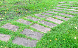 Stone block pathway Royalty Free Stock Photography