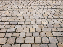 Stone block pavement Royalty Free Stock Images