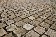 Stone block paving Stock Photos