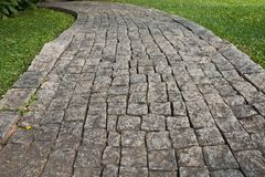 The Stone block walk path Royalty Free Stock Images