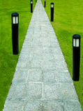 The Stone block walk path Royalty Free Stock Photos