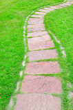 The Stone block walk path. Royalty Free Stock Image