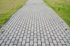 Stone block walk path Royalty Free Stock Images
