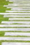 Stone block walk path Stock Images
