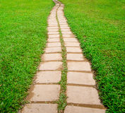 Stone block walk path in the park  Stock Images