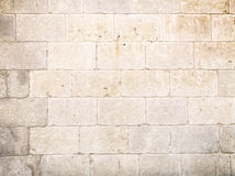 Stone block wall. Of old building Royalty Free Stock Photography