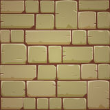 Stone Block Wall - Yellow Royalty Free Stock Photos