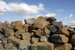 Stone blocks for construction. A pile of stone blocks for construction project Stock Image