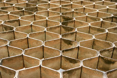 Stone blocks forming Honey Comb pattern Stock Image